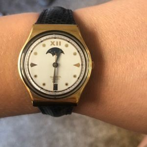 Vintage Swatch Watch with Bump Guard